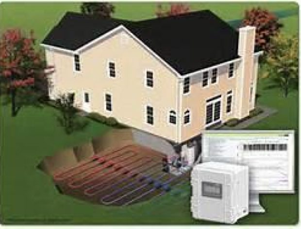 Geothermal loop system and house