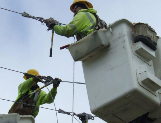 Western Iowa Power Cooperative Crew at Work