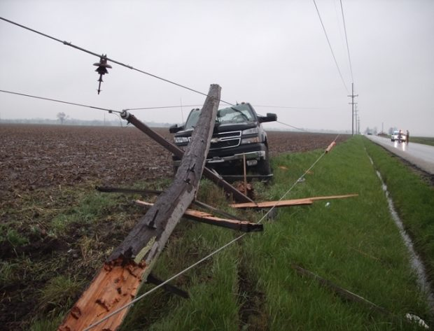 What to Do if You Hit a Power Pole