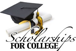 Scholarships for College cap and diploma