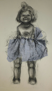 Blue dress doll