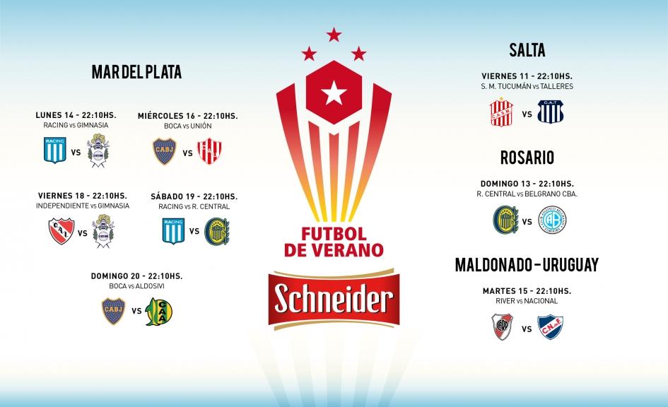 Fixture del Fútbol de Verano 2019