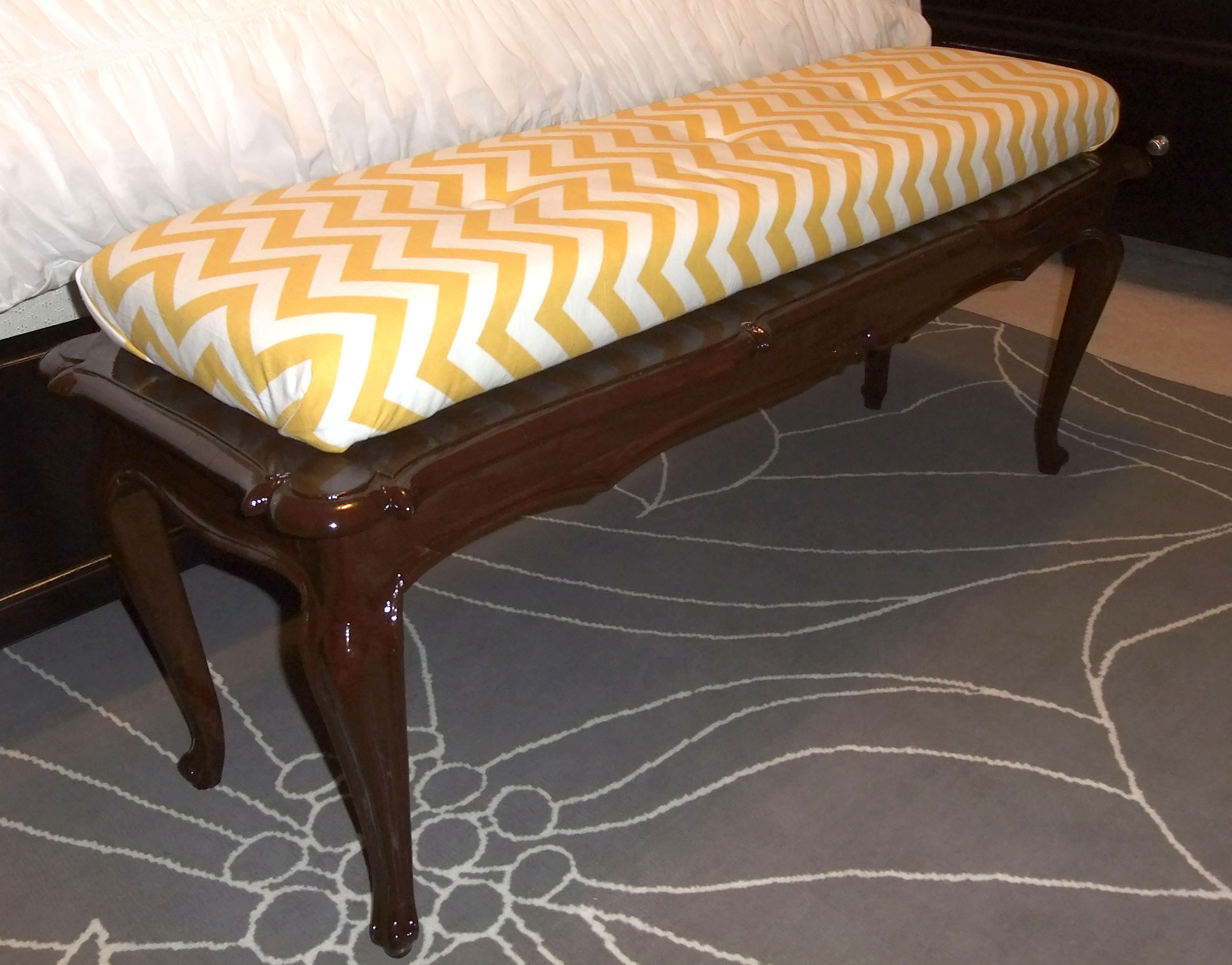 coffee table bench finished
