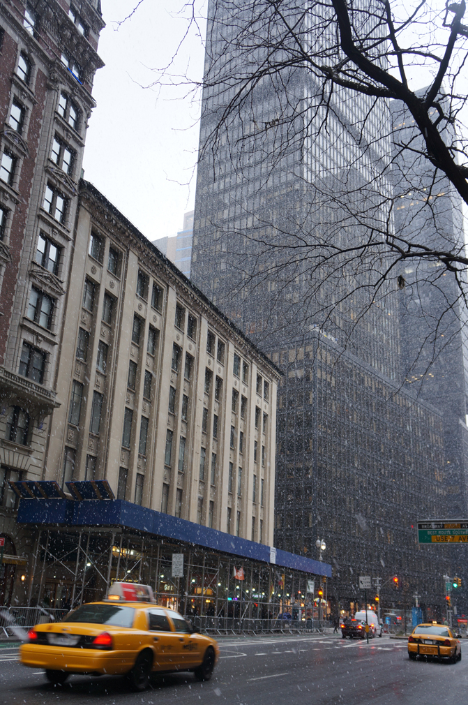 snowing nyc