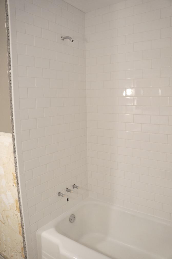 bathroom shower progress1