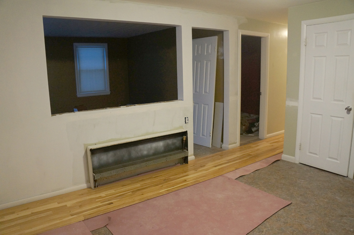 kitchen floor progress