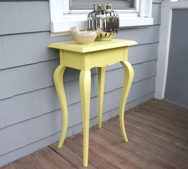 Canary Yellow Thrifted Table