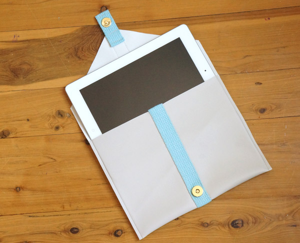DIY vinyl ipad case