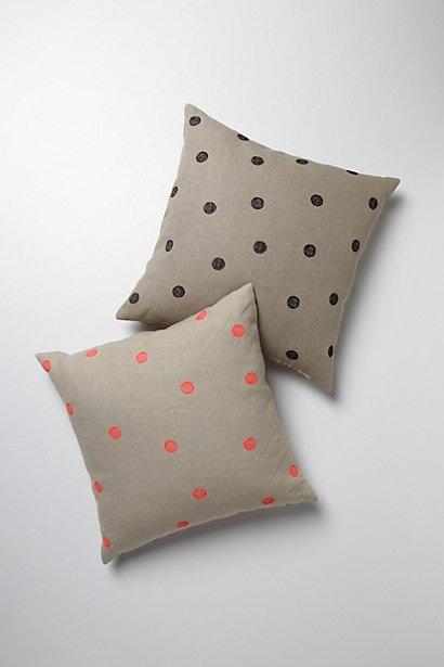 polka dot anthro pillows