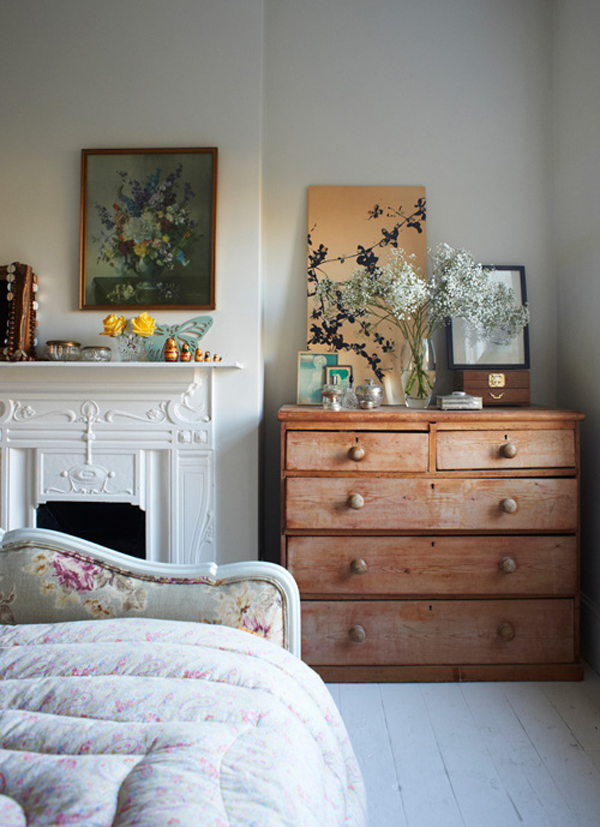 Eclectic collected floral bedroom via Life is Beautiful Tumblr