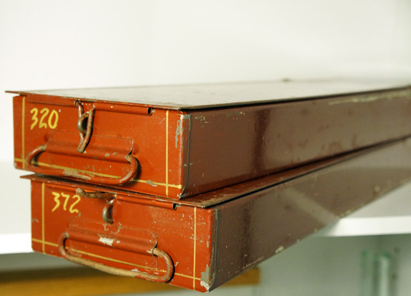 vintage safety deposit boxes