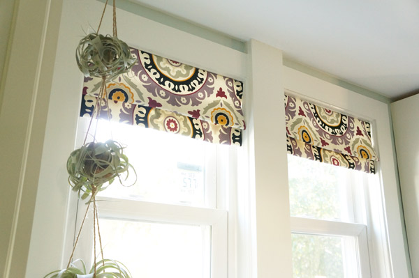 faux roman shade diy