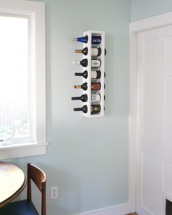 DIY kitchen wine rack