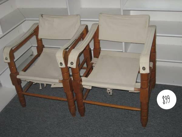 safari campain chairs