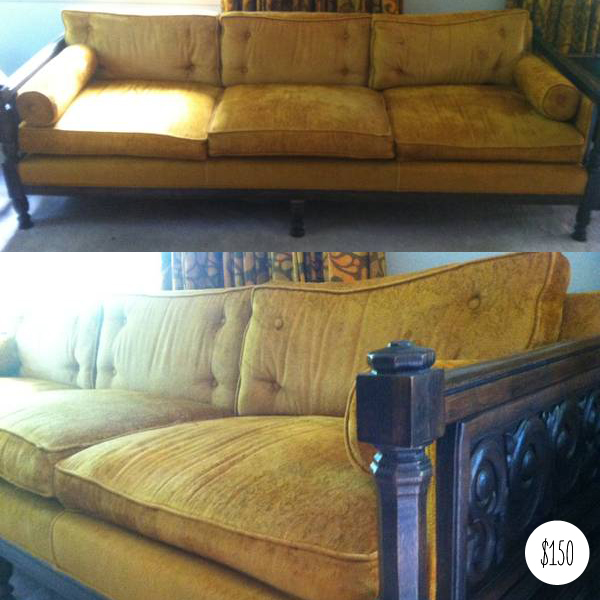 carved wood sofa set