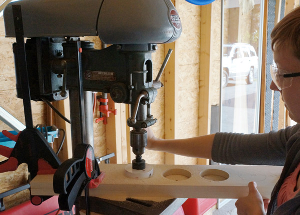 DIY wine rack drill press