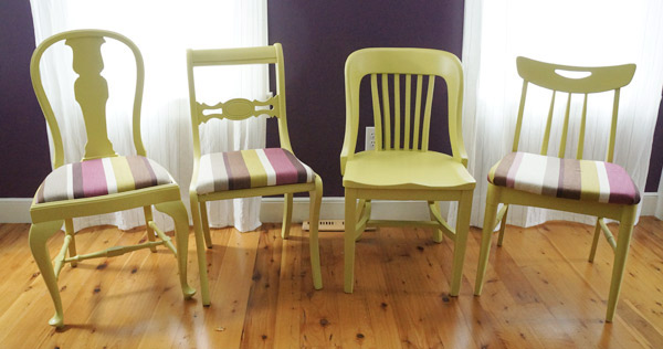 mismatched dining chairs set 1