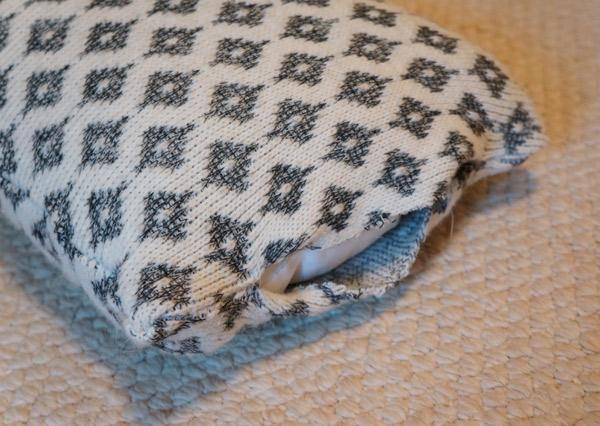 sweater pillow side progress