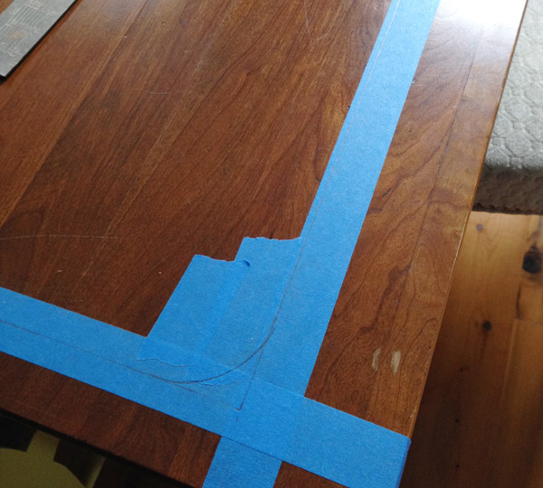 taped table