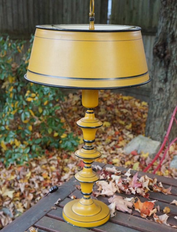 yellow lamp before