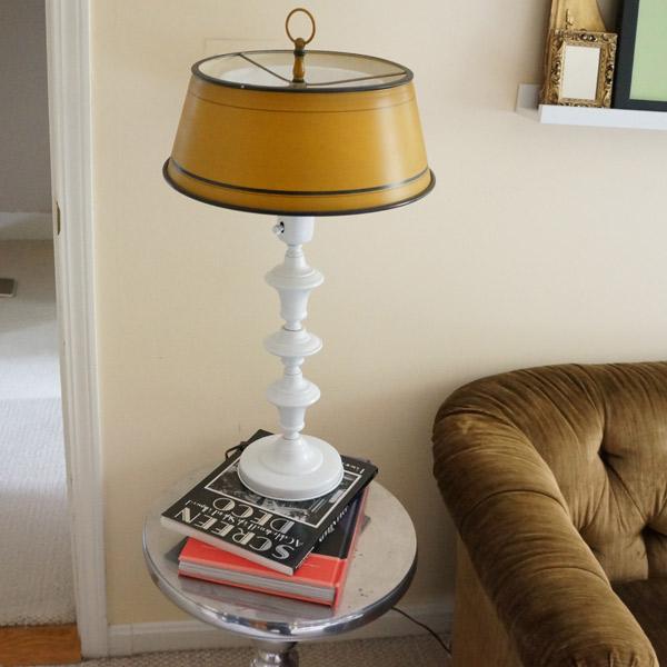 yellow lamp original shade