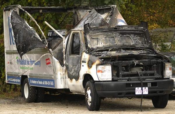 burnt habitat truck