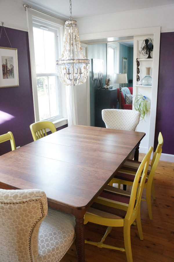 bright fun dining room