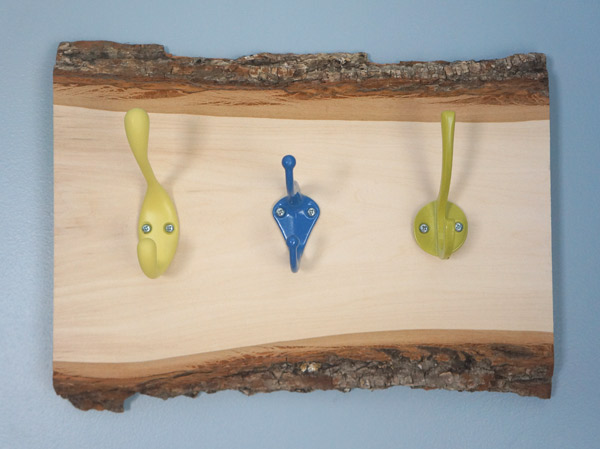 multi-color rustic kid hooks