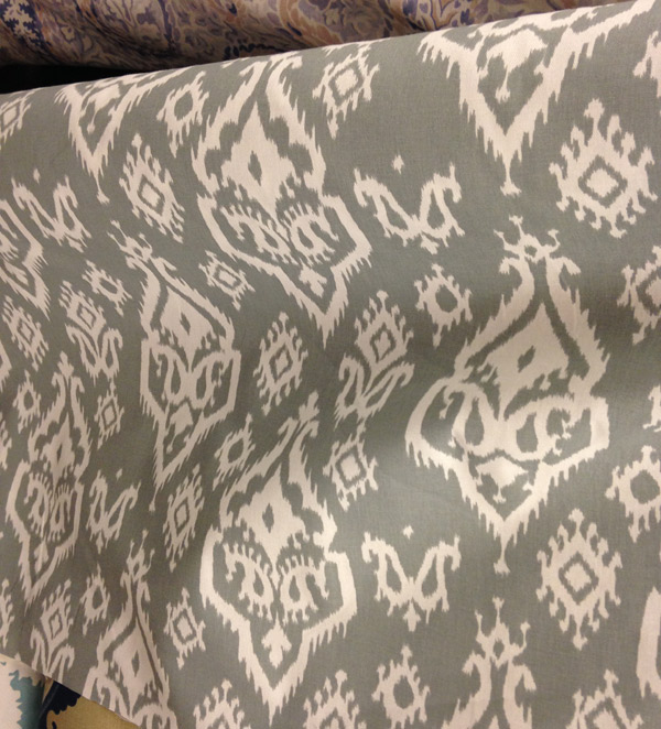 gray ikat fabric