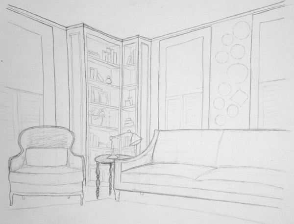 Living room plan sketch