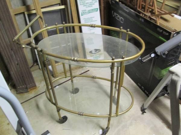 cl brass bar cart