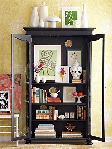 bhg styled china cabinet