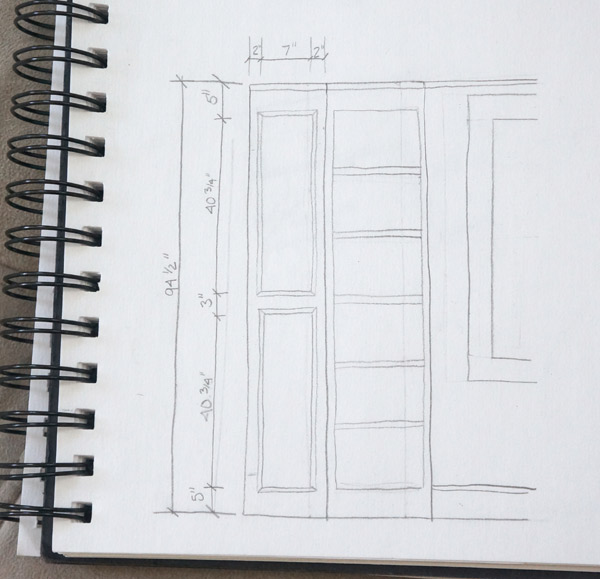 bookcase build sketch