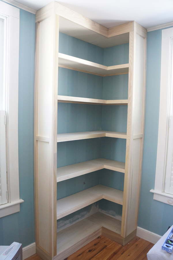 built in bookcase progress3