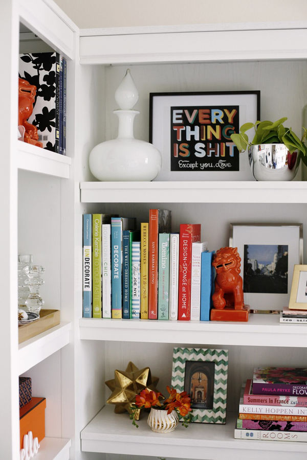 coco styled shelves