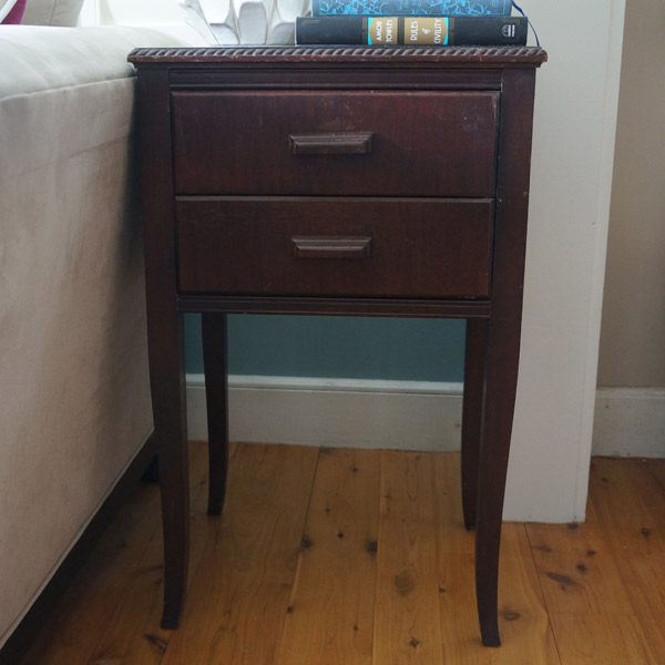 antique side table front