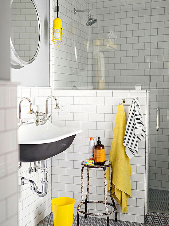 bhg yellow vintage bathroom