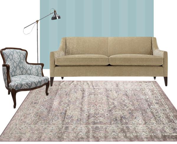 living room rug purple