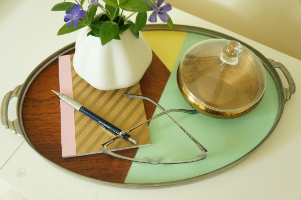 DIY color blocked deco wood tray via Year of Serendipity
