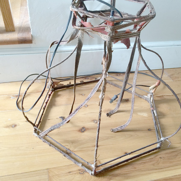 tag sale lamp shade frame