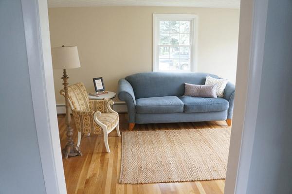 Frankie staged living room