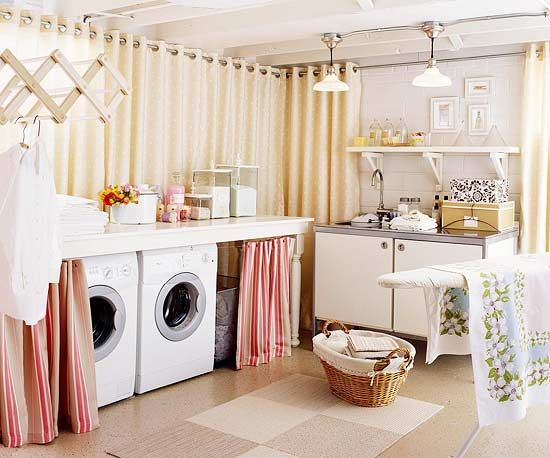 Stylish laundry room tips via Better Homes and Gardens