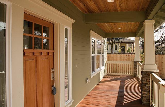 bungalow front porch door