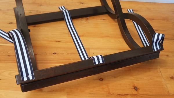 Vintage luggage rack ribbon via Year of Serendipity
