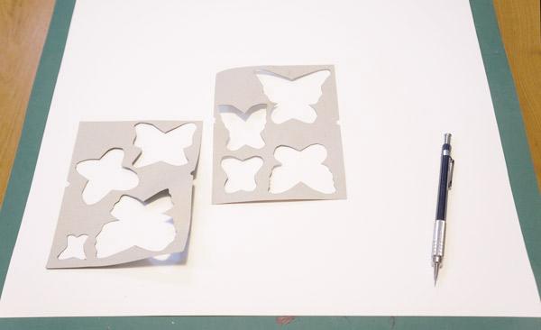DIY cut 3d butterfly art process via Year of Serendipity