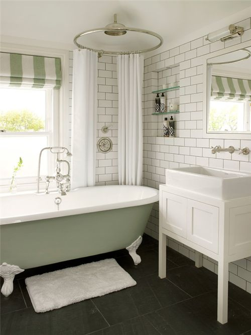 leivars wimbledon vintage claw foot tub/shower chic bathroom