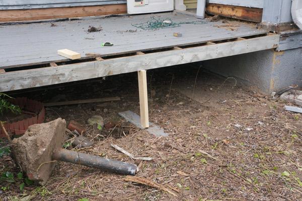 millie the flip house back yard progress