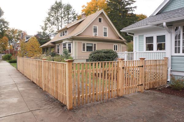 Millie week 10 craftsman fence via Year of Serendipity