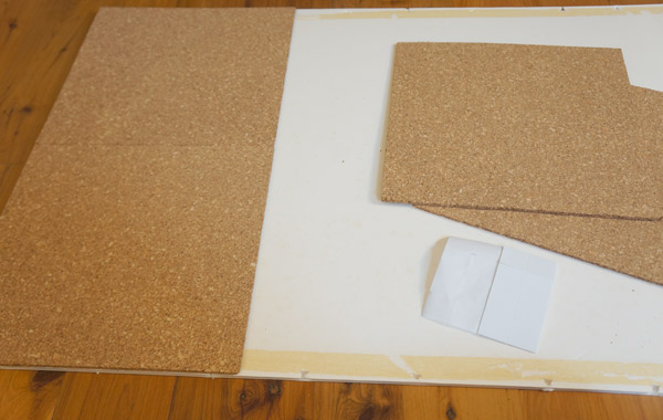 DIY-bulletin-board-progress