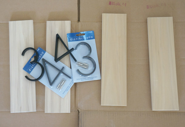 DIY wood backed house number supplies via Year of Serendipity